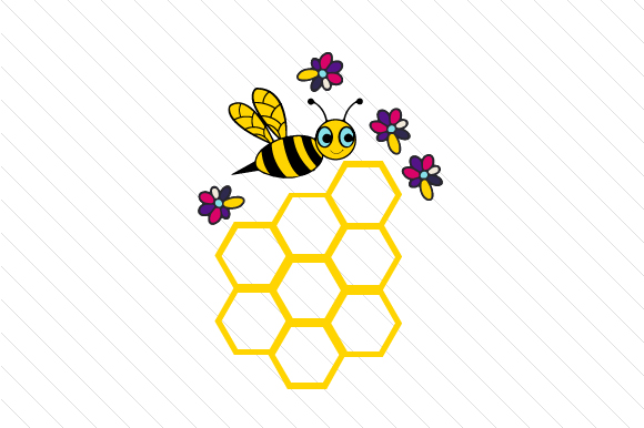 Download Free Bee Themed Design Bee With Honeycomb Svg Cut File By Creative for Cricut Explore, Silhouette and other cutting machines.