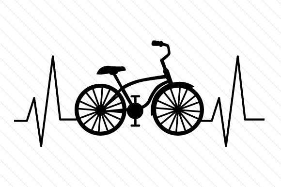 Download Free Bicycle Heartbeat Svg Cut File By Creative Fabrica Crafts for Cricut Explore, Silhouette and other cutting machines.