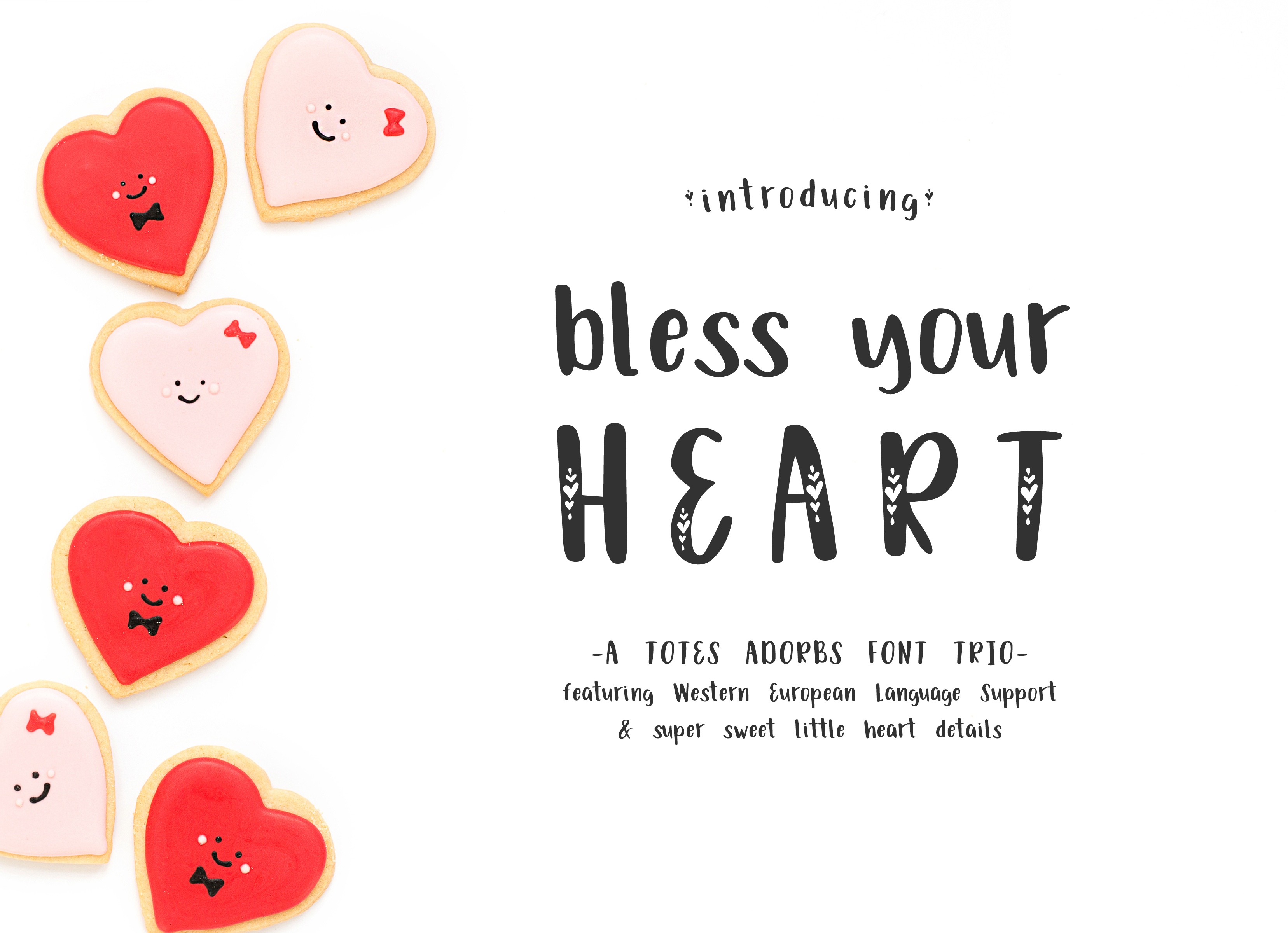 Print on Demand: Bless Your Heart Decorative Font By BeckMcCormick