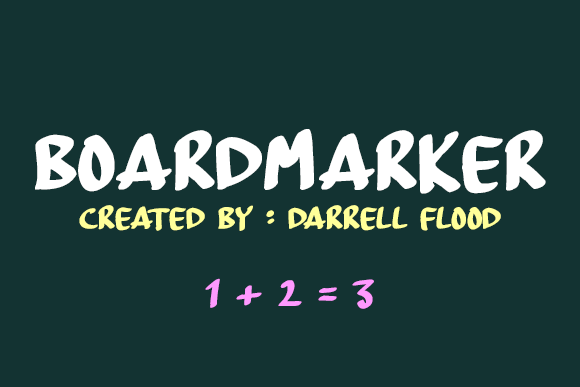 Print on Demand: Board Marker Script & Handwritten Font By Dadiomouse