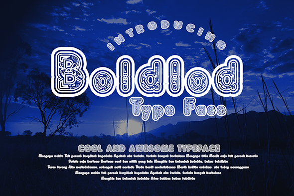 Print on Demand: Boldlod Decorative Font By Gblack Id
