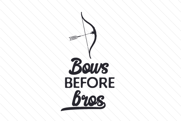 Bows Before Bros Sports Craft Cut File By Creative Fabrica Crafts
