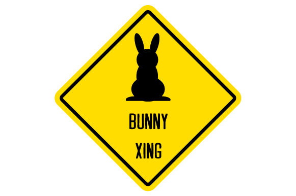 Download Free Bunny Xing Sign Svg Cut File By Creative Fabrica Crafts for Cricut Explore, Silhouette and other cutting machines.