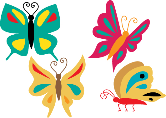 Download Free Butterflies Design Set Svg Cut File By Creative Fabrica Crafts for Cricut Explore, Silhouette and other cutting machines.