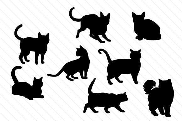 Cat Silhouettes Gatos Archivo de Corte Craft Por Creative Fabrica Crafts