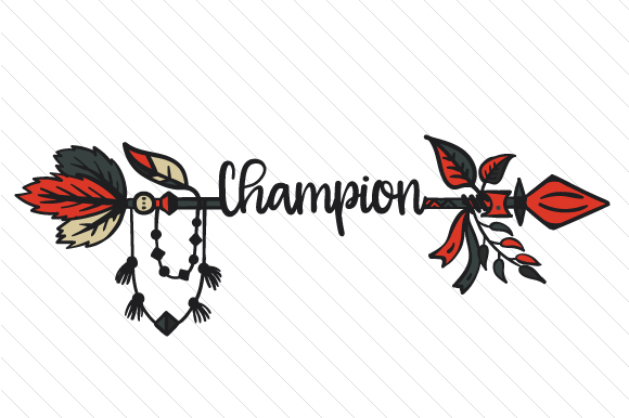 Champion Boho Craft Cut File By Creative Fabrica Crafts - Image 1
