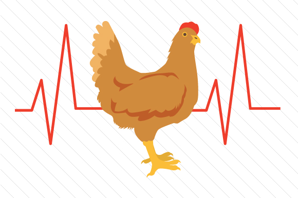 Download Free Chicken Heartbeat Svg Cut File By Creative Fabrica Crafts for Cricut Explore, Silhouette and other cutting machines.