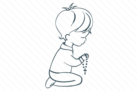Download Free Child Praying Svg Cut File By Creative Fabrica Crafts Creative for Cricut Explore, Silhouette and other cutting machines.