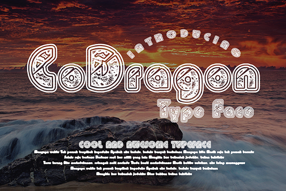 Print on Demand: CoDragon Display Font By Gblack Id