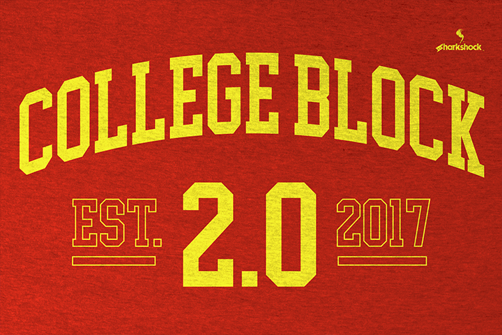 Print on Demand: College Block 2.0 Serif Font By Sharkshock