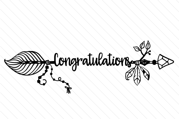 Congratulations Boho Craft Cut File By Creative Fabrica Crafts - Image 2