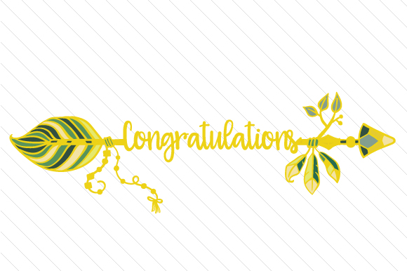 Congratulations Boho Craft Cut File By Creative Fabrica Crafts - Image 1