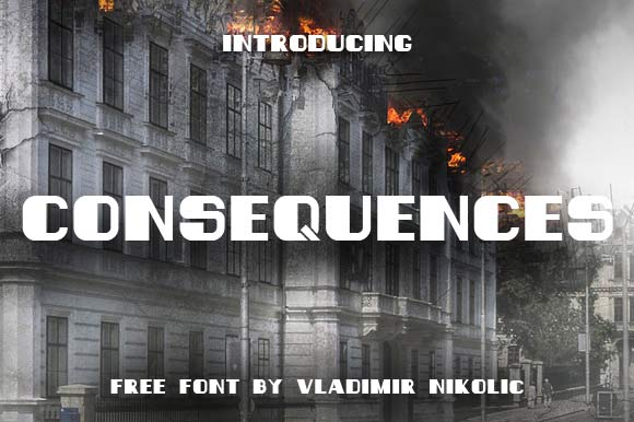 Print on Demand: Consequences Schriftarten von Creative Fabrica Freebies