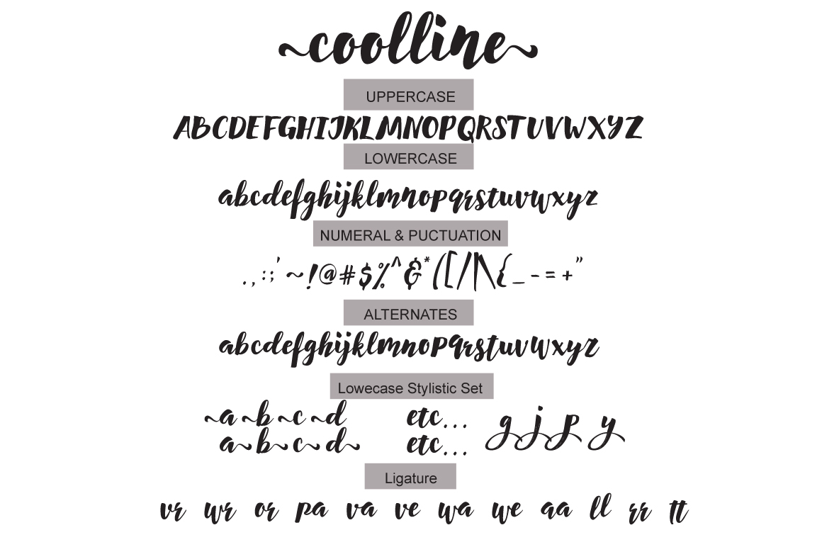 Print on Demand: Coolline Script & Handwritten Font By Cooldesignlab - Image 8