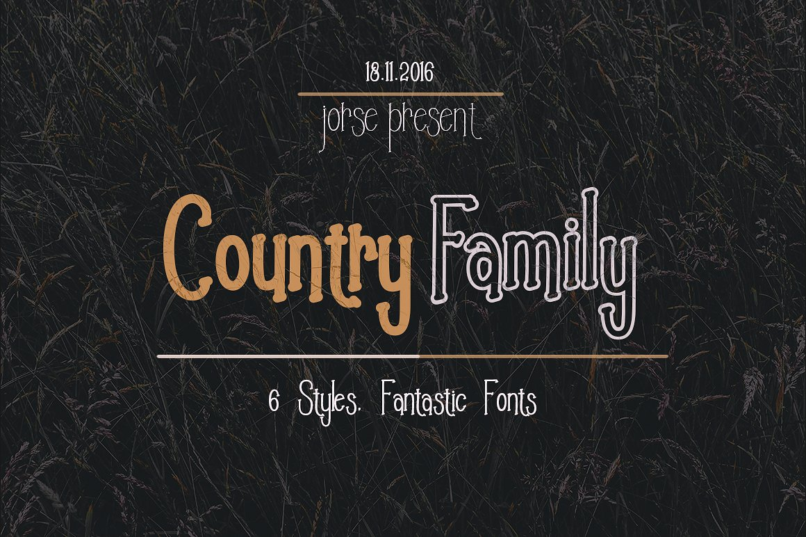 Print on Demand: Country Serif Font By Jorse