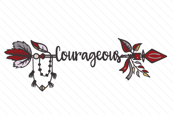 Courageous Boho Craft Cut File By Creative Fabrica Crafts - Image 1