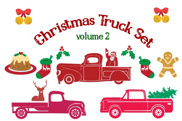 Download Free Christmas Truck Kit Volume 2 Create Your Own Truck Svg Cut File SVG Cut Files