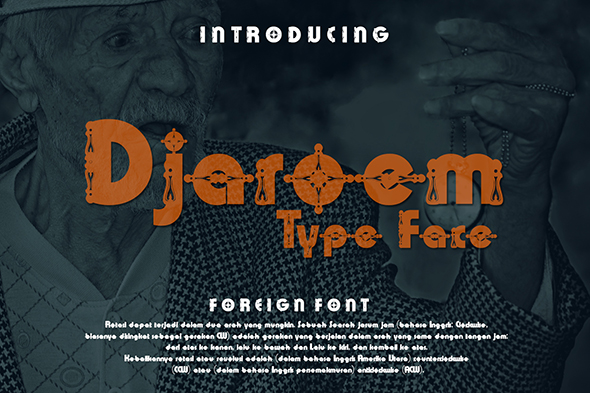 Print on Demand: Djaroem Decorative Font By Gblack Id