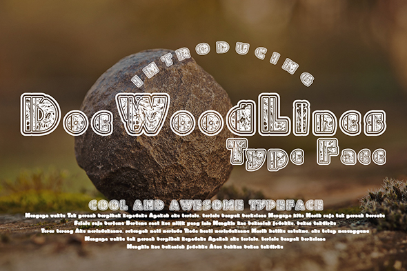 Print on Demand: DoeWoodLines Decorative Font By Gblack Id - Image 1