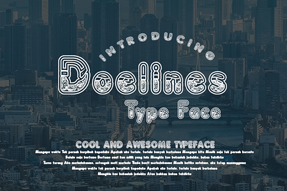 Print on Demand: Doelines Decorative Font By Gblack Id