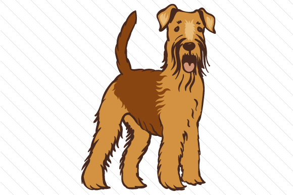 Dog Breed - Airedale Terrier Craft Design By Creative Fabrica Crafts