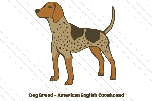 Dog Breed - American English Coonhound Craft Design By Creative Fabrica Crafts