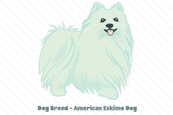 Dog Breed - American Eskimo Dog Craft Design By Creative Fabrica Crafts