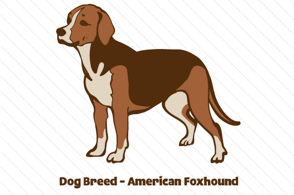 Dog Breed - American Foxhound Dogs Craft Cut File By Creative Fabrica Crafts