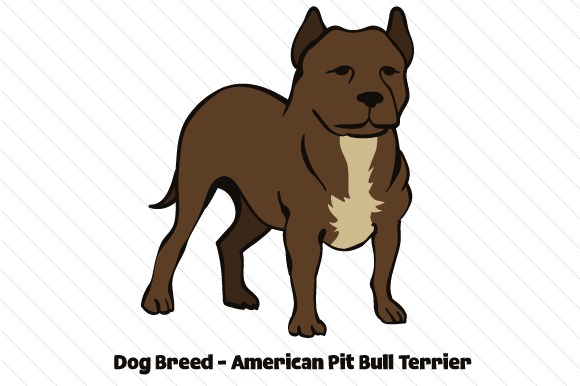Dog Breed - American Pit Bull Terrier Craft Design By Creative Fabrica Crafts