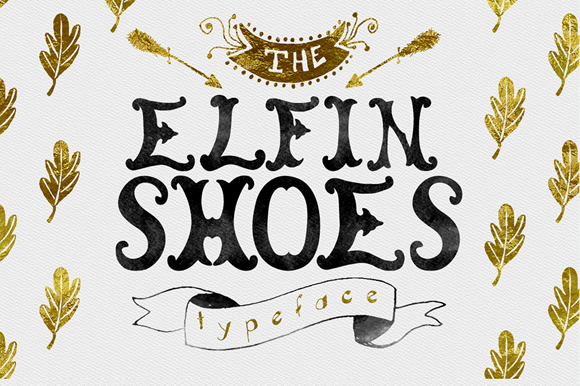 Download Free Elfin Shoes Font By Creativeqube Design Creative Fabrica for Cricut Explore, Silhouette and other cutting machines.
