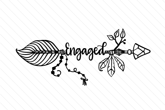 Engaged Boho Craft Cut File By Creative Fabrica Crafts - Image 2