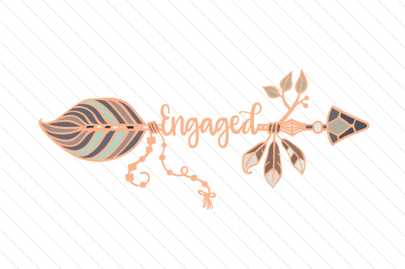 Engaged Boho Craft Cut File By Creative Fabrica Crafts - Image 1