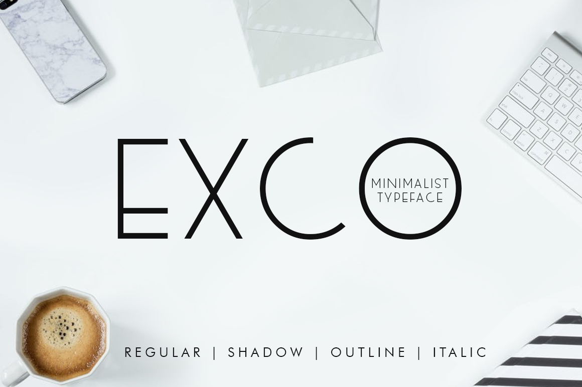 Print on Demand: Exco Sans Serif Font By Khurasan