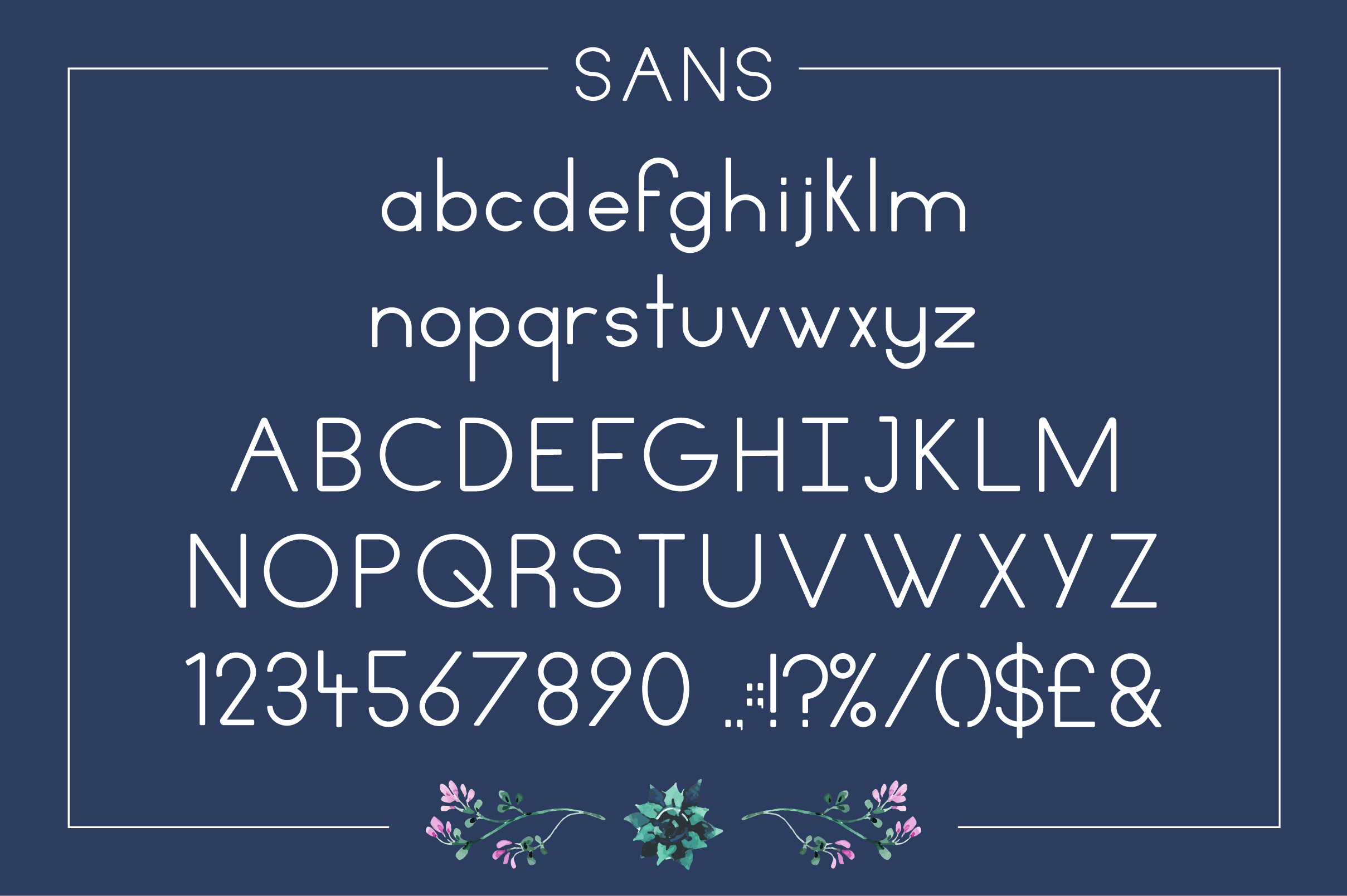 Print on Demand: Fiore Sans Serif Font By Mike Hill - Image 3
