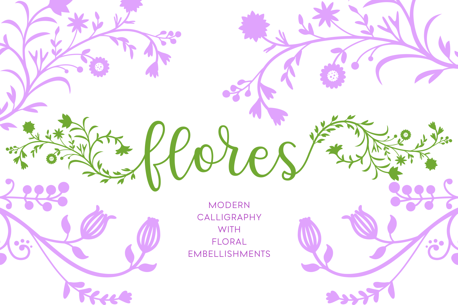 Print on Demand: Flores Script & Handwritten Font By Creative Fabrica Fonts - Image 3