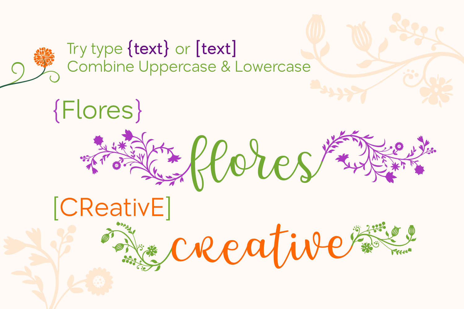 Print on Demand: Flores Script & Handwritten Font By Creative Fabrica Fonts - Image 4