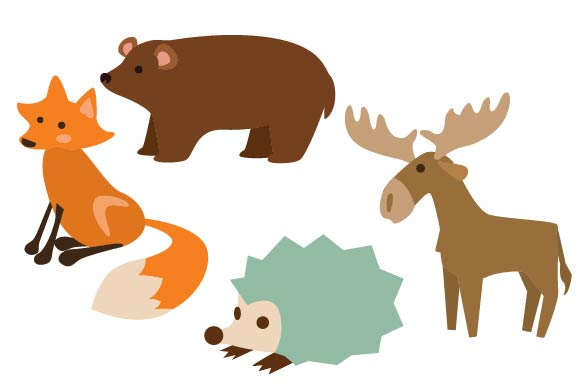 Download Free Forest Animal Design Set Svg Cut File By Creative Fabrica Crafts for Cricut Explore, Silhouette and other cutting machines.