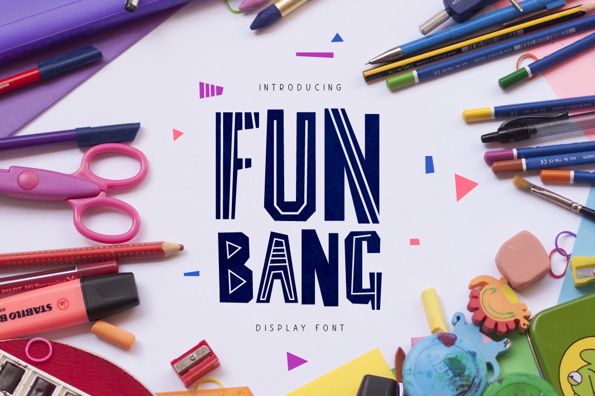 Print on Demand: Fun Bang Display Font By ChekArt