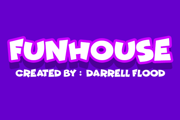 Print on Demand: Funhouse Display Font By Dadiomouse
