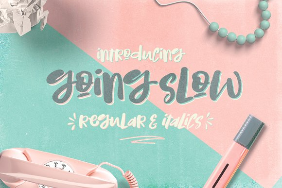 Print on Demand: Going Slow Script & Handwritten Font By Creativeqube Design