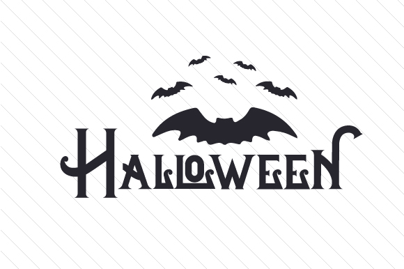Black Halloween with Bats Halloween Craft Cut File By Creative Fabrica Crafts