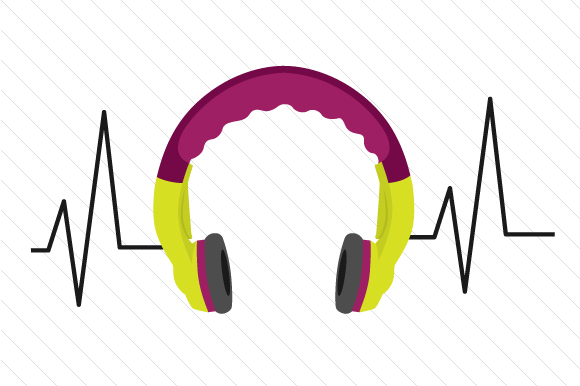 Headphones Heartbeat Designs & Drawings Craft Cut File By Creative Fabrica Crafts