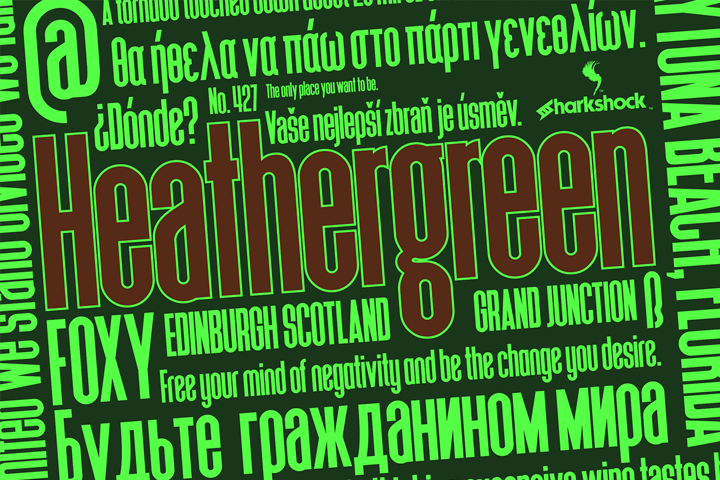 Print on Demand: Heathergreen Sans Serif Font By Sharkshock