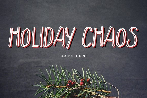Print on Demand: Holiday Chaos Display Font By Creativeqube Design