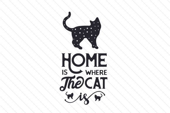 Download Free Home Is Where The Cat Is Svg Plotterdatei Von Creative Fabrica SVG Cut Files