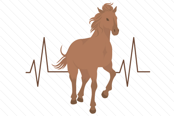 Horse Heartbeat Designs & Drawings Craft Cut File By Creative Fabrica Crafts