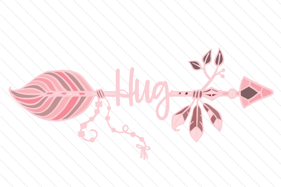 Hug Boho Craft Cut File By Creative Fabrica Crafts - Image 1