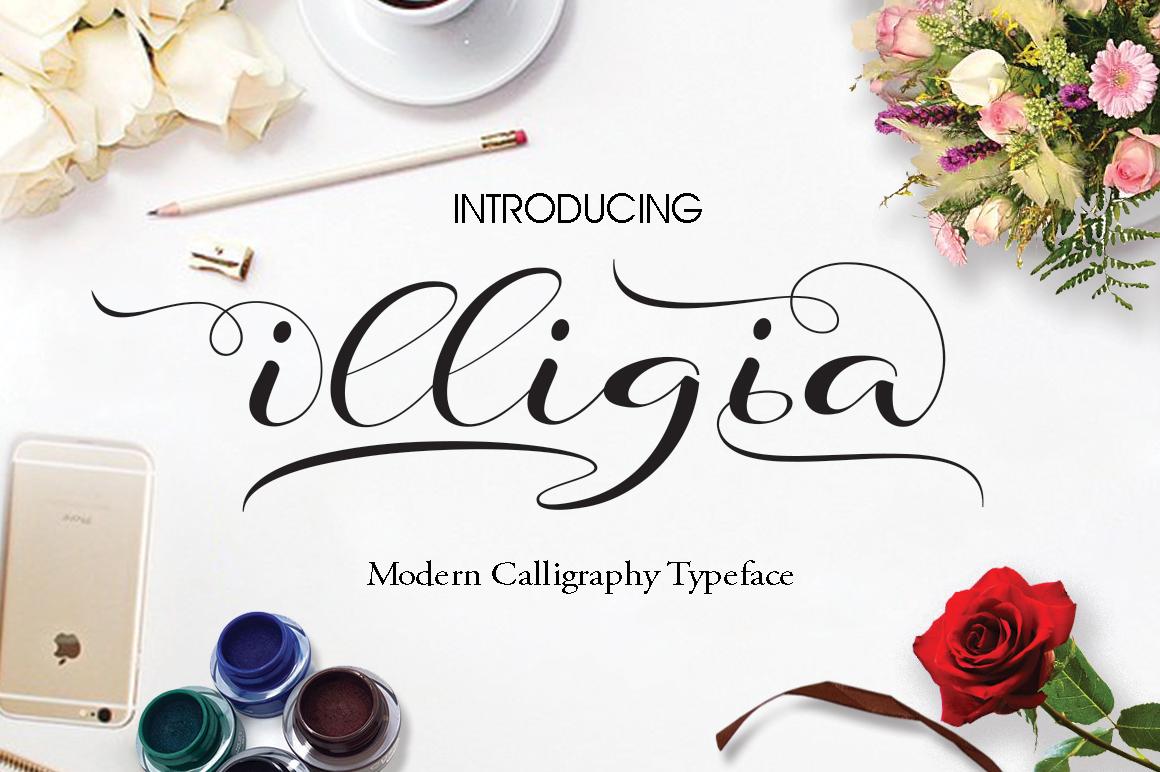Print on Demand: Illigia Script & Handwritten Font By JhoelDesign