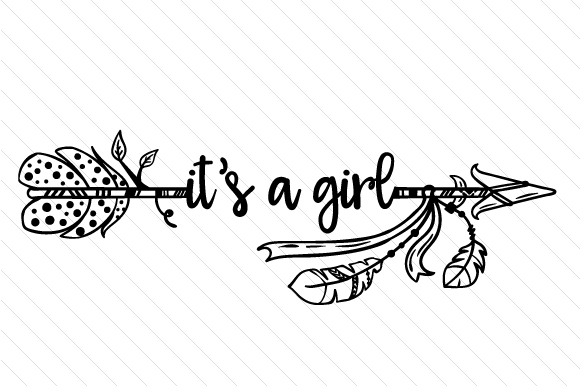 It's a Girl Boho Craft Cut File By Creative Fabrica Crafts - Image 2