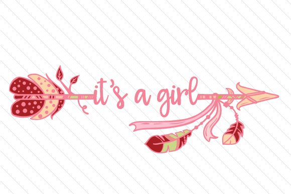 It's a Girl Boho Craft Cut File By Creative Fabrica Crafts - Image 1